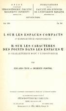Obálka pro Sur les espaces compacts