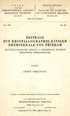 Obálka pro Beiträge zur Kristallographie einiger Erzminerale von Příbram
