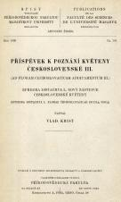 Obálka pro Příspěvek k poznání květeny Československé III : Ephedra distachya L, nový zástupce československé květeny