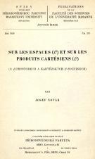 Obálka pro Sur les espaces (L) et sur les produits cartésiens (L)