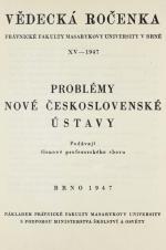 Obálka pro Vědecká ročenka právnické fakulty Masarykovy university v Brně. 15. Úvod (1947)