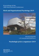 Obálka pro Psychologie práce a organizace 2019
