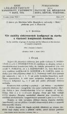 Obálka pro Vliv stability elektronových konfigurací na stavbu a vlastnosti komplexních sloučenin / On the stability of groups of electrons and its influence of the structure of complex compounds