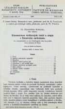 Obálka pro Koncentrace vodíkových iontů u slepic s Rousovým sarkomem / La concentration en ion d'hydrogène chez les poules avec sarcome de Rous