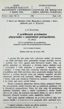 Obálka pro O modifikacích protoheminu připraveného z analytických protoporfyrinů : (II. sdělení) / Sur les modifications des protohémines préparées à partir des protoporphyrines analytiques