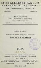 Sborník prací vydaných na počest šedesátých narozenin prof. dr. F. K. Studničky - INTRO