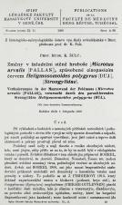 Změny v žaludeční stěně hraboše (Microtus arvalis [Pallas]), způsobené cizopasícím červem Heligmosomoides polygyrus (DUJ.), (Strongylidae) / Veränderung in der Magenwand der Feldmaus (Microtus arvalis [Pallas]), verursacht durch den parasitierenden Strongyliden Heligmosomoides polygyrus (DUJ.)