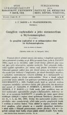 Obálka pro Ganglion osphradiale a jeho metamorfosa u Stylommatophor / Le ganglion osphradial et sa métamorphose chez les Stylommatophores