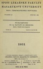 Spisy Lékařské fakulty, svazek 10. Intro