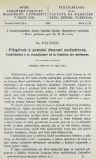 Obálka pro Příspěvek k poznání činnosti nadledvinek / Contribution à la connaissance de la fonction des surrénales