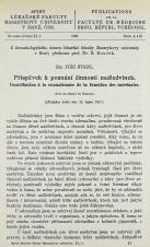 Příspěvek k poznání činnosti nadledvinek / Contribution à la connaissance de la fonction des surrénales