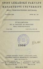 Obálka pro Spisy Lékařské fakulty, svazek 13. Intro