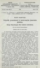 Obálka pro Několik poznámek k isolovaným jaterním jádrům / Einige Bemerkungen über isolierte Leberkerne