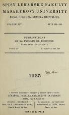 Obálka pro Spisy Lékařské fakulty, svazek 14. Intro
