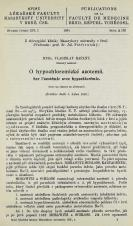 O hypochloremické azotemii / Sur l'azotémie avec hypochlorémie