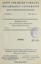 Spisy Lékařské fakulty, svazek 15. Intro