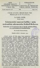 Obálka pro Kolorimetrické stanovení hořčíku v moku mozkomíšním mikrometodou Kolthoff-Bečkovou / Recherches sur le magnesium dans le liquide céphalorachidien avec mierométhode [!] de Kolthoff-Bečka