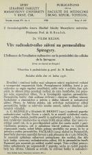 Obálka pro Vliv radioaktivního záření na permeabilitu Spirogyry / L'influence de l'irradiation radioactive sur la permèabilité des cellules de la Spirogyra