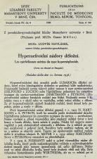 Hypernefroidní nádory děložní / Les epithéliomes utérins du type hypernéphroide
