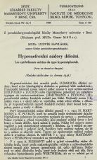 Obálka pro Hypernefroidní nádory děložní / Les epithéliomes utérins du type hypernéphroide