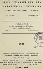 Spisy Lékařské fakulty, svazek 16. Intro