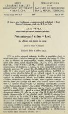 Neionisovaný chlor v krvi / Le chlore non-ionisé du sang / Le chlore non-ionisé du sang