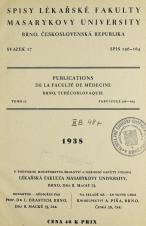 Spisy Lékařské fakulty, svazek 17. Intro