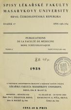 Obálka pro Spisy Lékařské fakulty, svazek 17. Intro