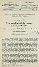 Obálka pro Nová metoda grafického záznamu kysličníku uhličitého / L'enregistrement graphique de CO2 à l'aide d'une nouvelle méthode