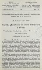 Množství glutathionu po otravě kolchicinem u morčat / Glutathion après intoxication par colchicine chez les cobayes