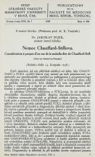 Nemoc Chauffard-Stillova / Considération à propos d'un cas de la maladie dite de Chauffard-Still