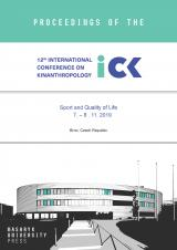 Obálka pro Proceedings of the 12th International Conference on Kinanthropology. Sport and Quality of Life. 7. – 9. 11. 2019