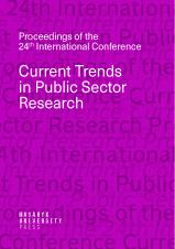 Obálka pro Current Trends in Public Sector Research. Proceedings of the 24th International Conference