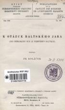 Obálka pro K otázce baltského jara
