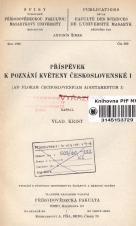 Obálka pro Příspěvek k poznání květeny Československé I