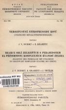 Obálka pro Nerozpustné nitroprussidy kovů