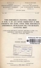 Obálka pro Über Dorydrilus (Piguetia) mirabilis n. subg. n. sp. aus einem Sodbrunnen in der Umgebung von Basel sowie über Dorydrilus (Dorydrilus) michaelseni pig. und Bichaeta sanguinea bret.