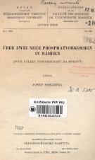 Obálka pro Über zwei neue Phosphatvorkommen in Mähren
