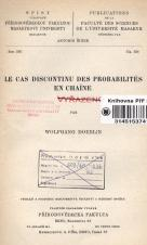 Obálka pro Le cas discontinu des probabilités en chaîne