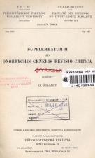 Obálka pro Supplementum II. ad Onobrychis generis revisio critica