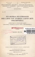 Obálka pro Ein Beitrag zur Ethologie der Larve von Anabolia laevis zett. (Trichoptera)