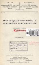 Obálka pro Sur une équation fonctionnelle de la théorie des probabilités. Troisieme partie