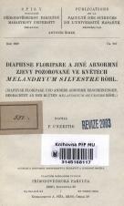 Obálka pro Diaphyse floripare a jiné abnormní zjevy pozorované ve květech Melandryum silvestre Röhl