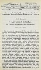 Obálka pro O různé vzdornosti bakteriofagů / Sur la résistance des differentes souches du bactériophage