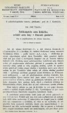 Obálka pro Nefelometrie sera lidského, zvláště sera ženy v činnosti gestační / Sur la néphélométrie des sérums humaines