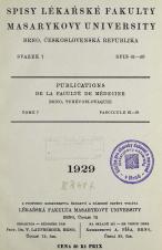 Obálka pro Spisy Lékařské fakulty, svazek 7. Intro