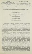 Obálka pro O protoporfyrinu / Sur la protoporphyrine