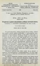 Obálka pro Příspěvek k spektroskopickému průkazu krevních skvrn / Contribution à la determination spectroscopique des taches du sang