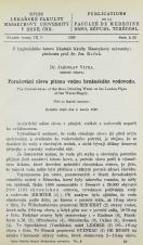 Porušování olova pitnou vodou brněnského vodovodu / The corrosiveness of the Brno drinking water on the leaden pipes of the water-supply