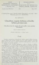 Obálka pro Glutathion orgánů skokana zeleného během přezimování / Glutathion dans les organes des grenouilles vertes pendant hivernation